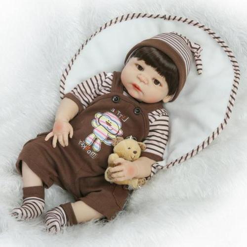 "Reborn Toddler Dolls 23"" Cute Anatomically Correct Bebe Boy"