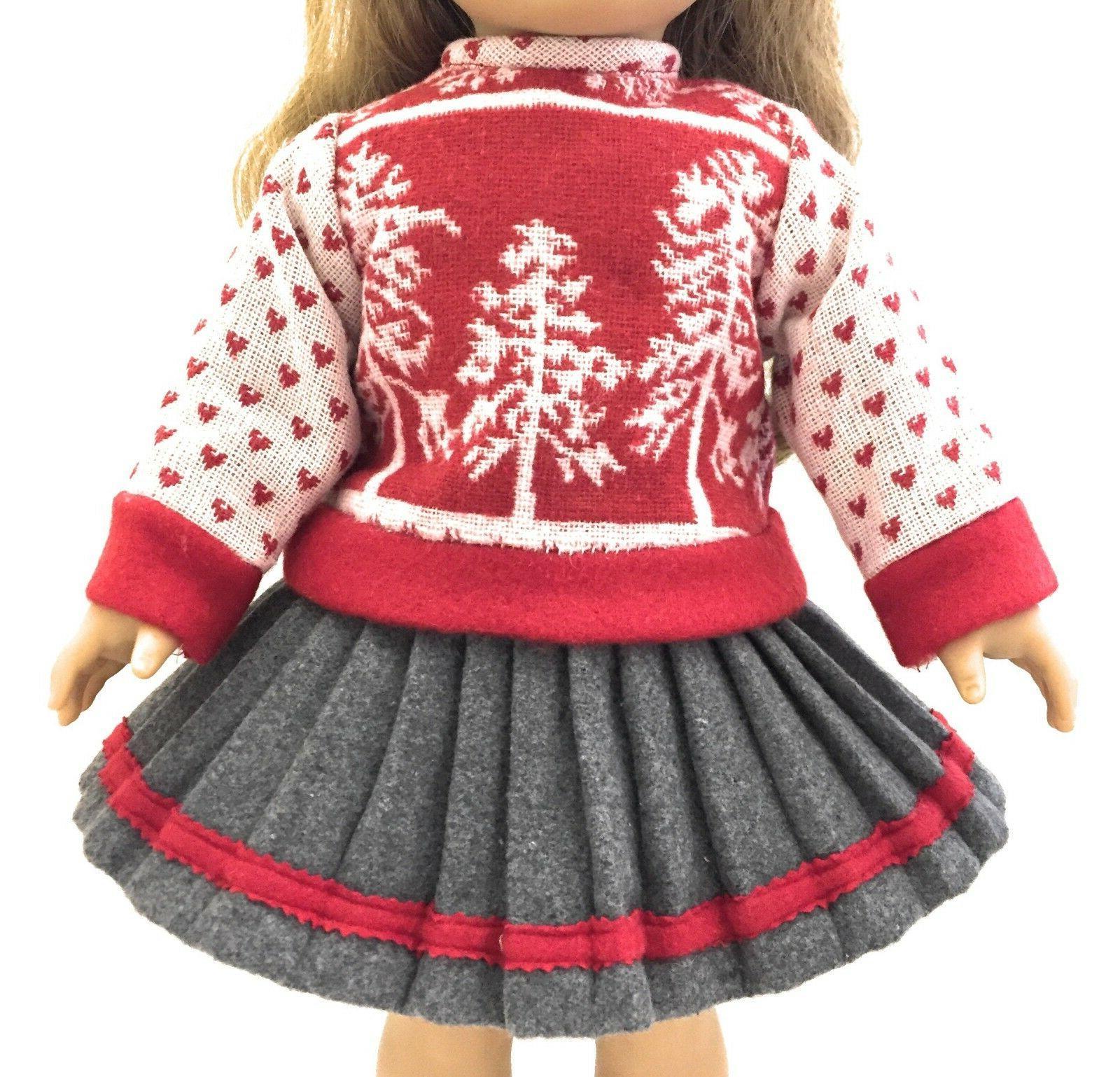Red Winter Sweater, & Earmuffs American