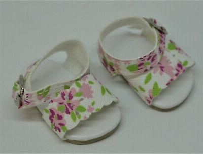 Sandals Blossom for Reina Wellie Wishers Doll Shoes
