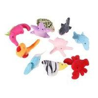 10 pcs Sea Finger Puppets Story Finger Soft Small Toys Baby Kids Toddler, Plush Fingers Decorations Fun