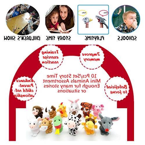 10 Finger Children,You Story Soft For Baby Kids Toddler, Plush Fingers Fun Family Set