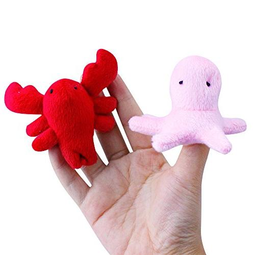 10 pcs Animal Finger Story Dolls Puppet Soft Small Baby Kids Toddler, Fingers Decorations Fun Family Games Set