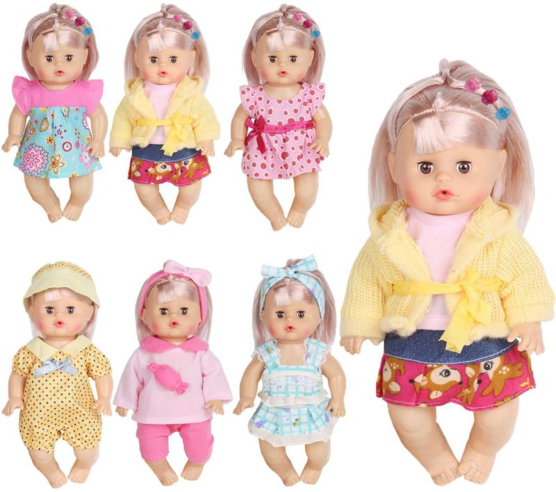 Huang Cheng Toys Set of 6 Doll Clothes for 12 Inch Doll Aliv