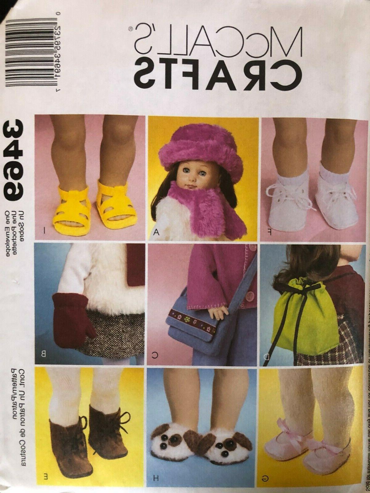Set of Crafts Patterns Doll Clothes