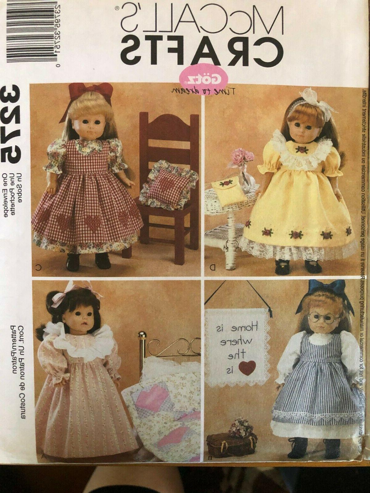 Set of McCall's Crafts Doll Clothes