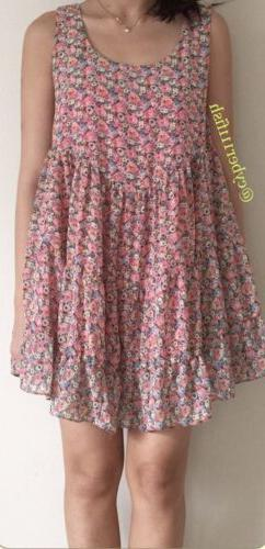 Brandy Melville Show Room Pink Floral Baby Doll Dress BNWT #