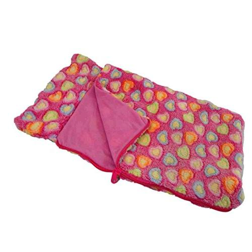 The Queen's Pink Heart Doll Sleeping Bag. Fits American Girl Alexander Accessories Furniture. Bedding &