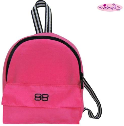Sophia's 18 Inch Doll Backpack, Doll Sized Pink Nylon, Zippe