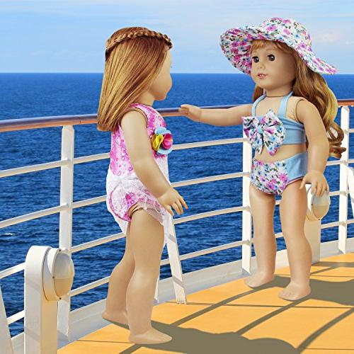 ZITA American Bikini Swimwear Bathing Suits for Dolls