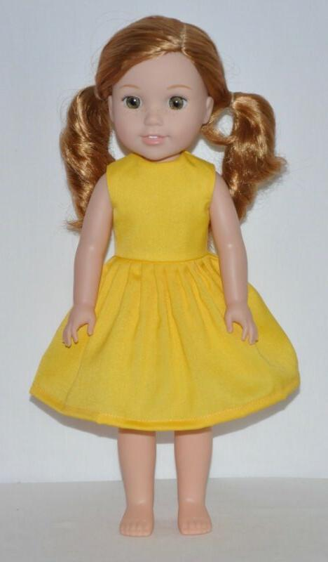 summer yellow dress fits american girl wellie
