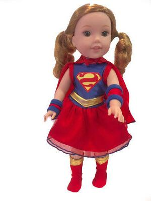 "Superman Hero 4 PC Halloween Dress 14"" Doll Clothes"
