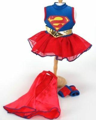 "Superman Hero PC Halloween Dress 14"" Wellie Wishers Clothes"