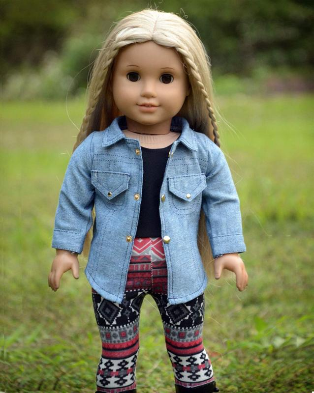 sweet dolly Doll Clothes Top Leggings Outfits