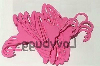 ten pink bar hangers for american girl