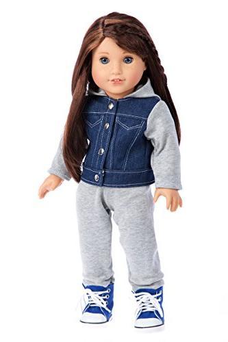 DreamWorld - Piece - Clothes Fits Inch Doll - Jacket, Sweatpants, T-Shirt