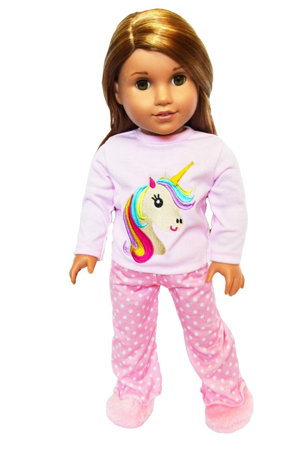 unicorn doll pajamas doll outfit fits 18