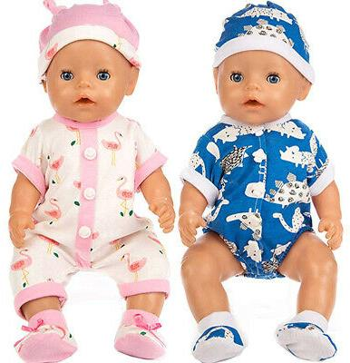 ebuddy Unicorn Jumpsuit Sets Include Blue and Pink Doll Clot