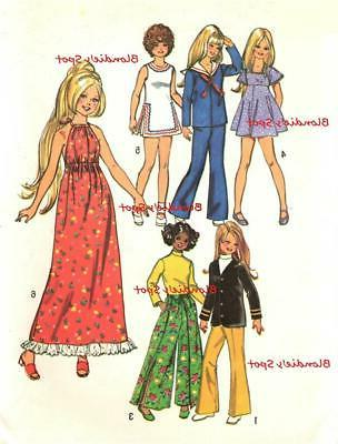 vintage doll clothes pattern 5276 for 17