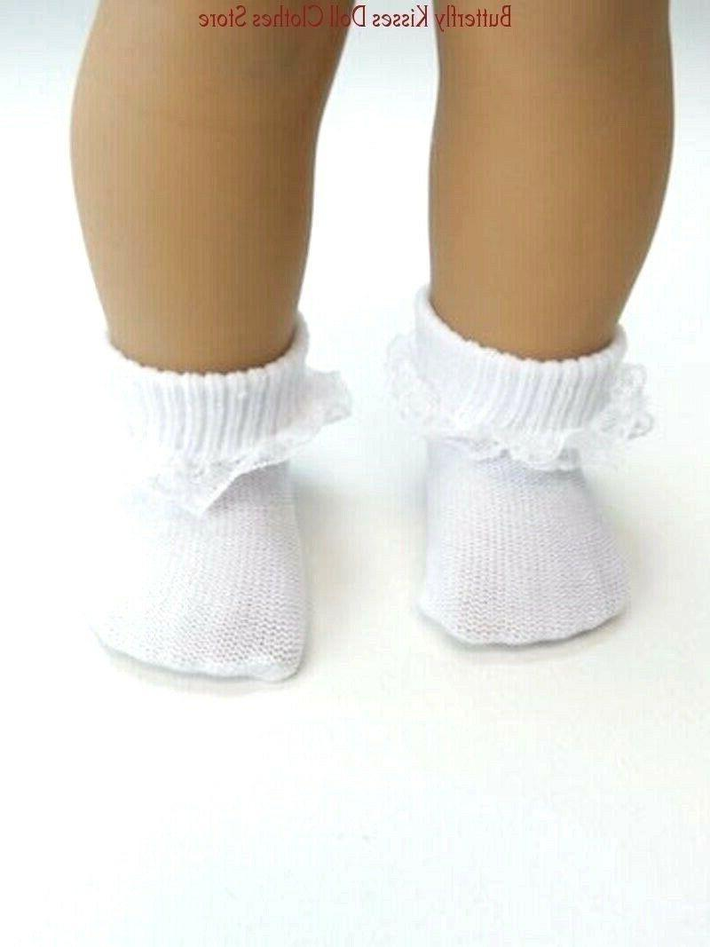 white lace trim socks 18 in doll