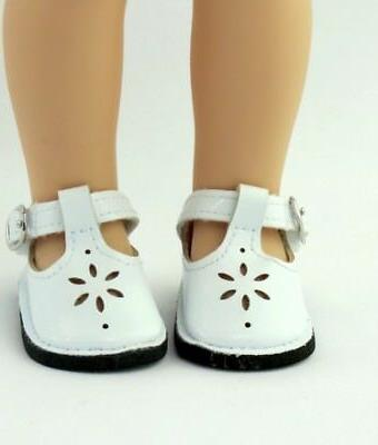 "White shoes Mary Jane 14"" Wellie Wishers doll American Girl"