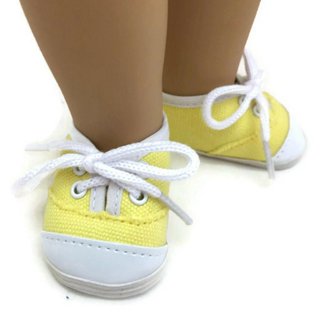 Yellow Tennis Sneakers for American Doll