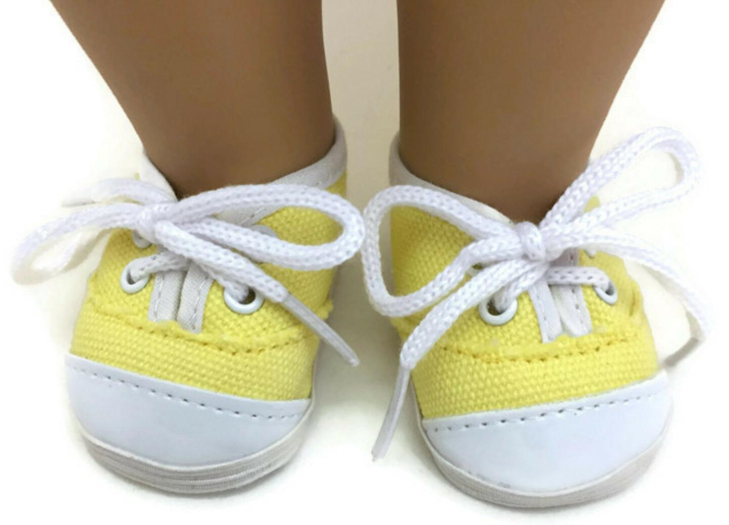 Yellow Canvas Sneakers for American Girl Doll Clothes