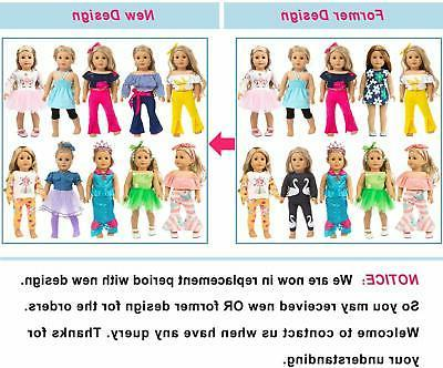 ZITA 10 Sets Inch Doll Clothes for Ame