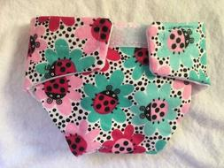 LARGE CLOTH DOLL DIAPER LADY BUG FOR BABY ALIVE CABBAGE PATC
