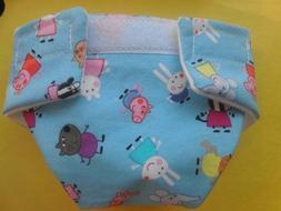 LARGE CLOTH DOLL DIAPER PEPPA PIG FOR BABY ALIVE CABBAGE PAT