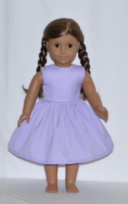 "Lavender Dress For 18"" American Girl Doll Clothes"