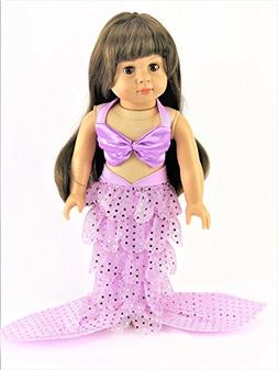 """Lavender Mermaid 2-PC Outfit 