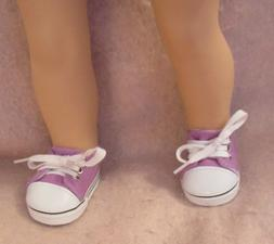 Lavender Tennis Shoes fit American Girl Doll 18 Inch Clothes