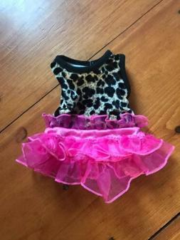 Arianna Leopard Pink Tutu Doll Dress Used