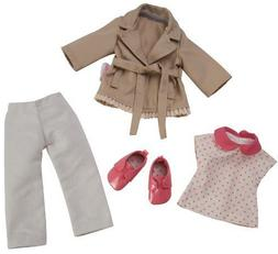 Corolle Les Cheries Trench Coat and Denim and Derbies New