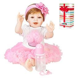 JOYMOR 22 Inch Lifelike Realistic Baby Doll Washable Soft Bo