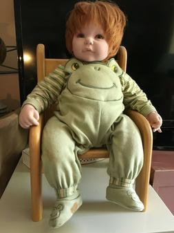 Adora lifelike toddler boy doll, weighted, red hair, in very