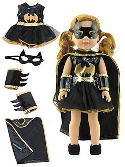 Little Batgirl Costume-Fits 14 Inch Wellie Wisher Dolls | 14