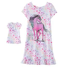 SO Little and Big Girls' Nightgown with Matching 18 inch Dol