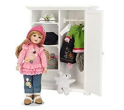 Little Lovey's Closet L.e. Porcelain Doll with Wardrobe By M