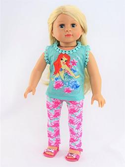 "Little Mermaid Pant Set / Pajamas | Fits 18"" American Girl D"