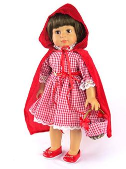 "Little Red Riding Hood 18"" Doll Dress | Fits 18"" American Gi"