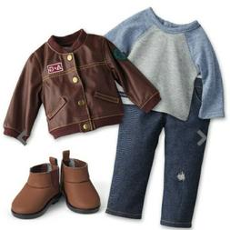 American Girl Logan/'s Performance Outfit NIB Jacket Shoes Jeans Boots