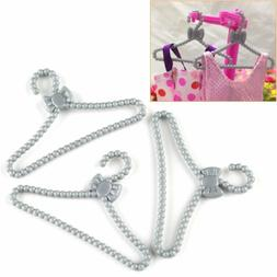 Lot 100 Pcs Gray Hangers Dress Clothes Accessories For Barbi