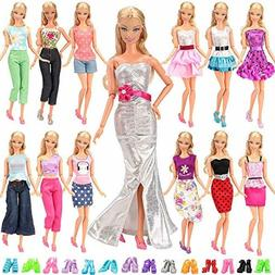 BARWA Lot 20 Items 10 Set Fashion Handmade Clothes Outfit 10