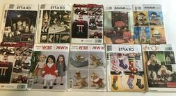 Lot of 10 Simplicity/McCall's/Kwik Sew/ Holiday Doll Crafts
