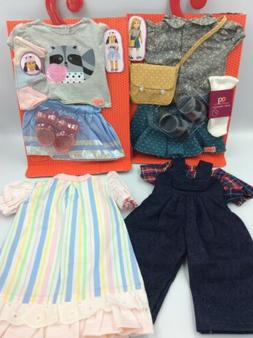 """Lot Of 18"""" Inch Doll Clothes Outfits Shoes Fits Our Genera"""
