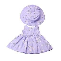 Dovewill Lovely Floral Dress Hat Suit Beach Outfit for 18''