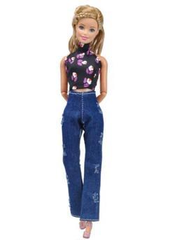 Lovely T-shirt Hole Jeans Denim Overalls Street Style For Ba
