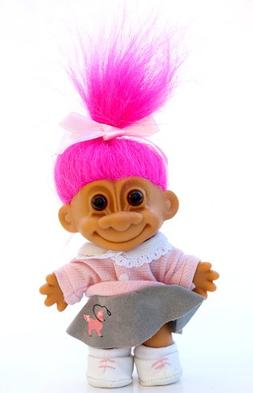 """My Lucky 1950's Poodle Skirt 6"""" Troll Doll"""