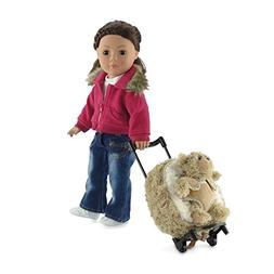 18-inch Doll Toddler Luggage | Doll Toddler Backpack with Tr